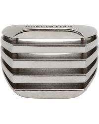 Balenciaga Silver Bone Ring - Metallic