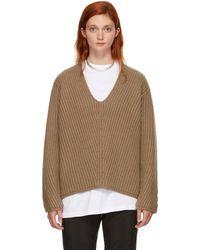 Acne Studios - Brown Wool Deborah Jumper - Lyst