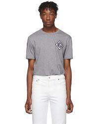 Dolce & Gabbana グレー ロゴ T シャツ