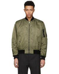 Versace - Green Nylon Bomber Jacket - Lyst