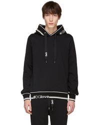 Dolce & Gabbana   Black Logo Hoodie   Lyst
