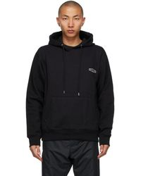 Wooyoungmi Black Embroidered Logo Hoodie