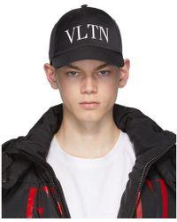 Valentino Garavani コレクション ブラック Vltn ベースボール キャップ