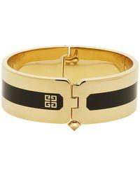 Givenchy Bracelet manchette dore et noir Simple - Métallisé