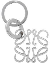 Loewe Silver Anagram Keyring - Metallic