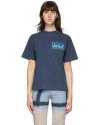 Aries T-shirt bleu Temple