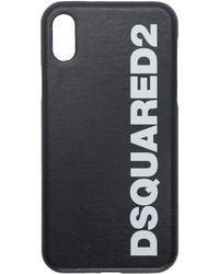 DSquared² - Etui pour iPhone X a logo noir - Lyst