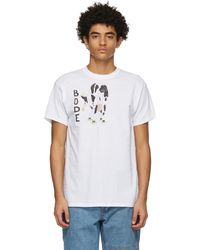 Bode ホワイト Hand-drawn Cow's Tail T シャツ