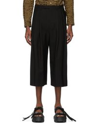 Lad Musician - Black 3tuck Cropped Wide Trousers - Lyst