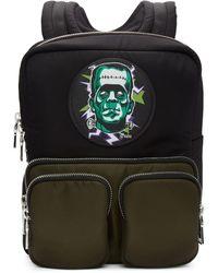 Prada Black Universal Studios Edition Frankenstein Logo Backpack