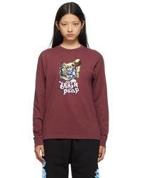 Brain Dead Burgundy Bubblegum Shorty Long Sleeve T-shirt - Multicolour