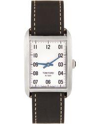 Tom Ford ブラック & シルバー 001 腕時計