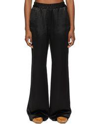 Acne Studios Satin Fluid Pants - Black