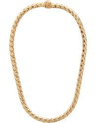 Emanuele Bicocchi Gold Herringbone Chain Necklace - Metallic