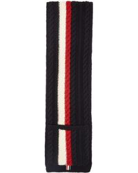Thom Browne - Ssense Exclusive Navy Wool Aran Cable Pocket Scarf - Lyst