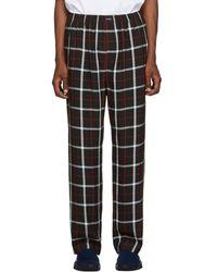 Balenciaga Checked Wide-leg Crepe Pants - Black