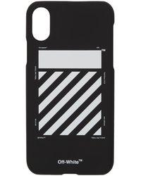 Off-White c/o Virgil Abloh Ssense 限定 ブラック And ホワイト Diag Iphone 11 Pro ケース
