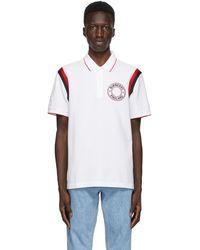 Burberry ホワイト Ennis ロゴ グラフィック ポロシャツ