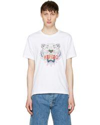 KENZO - White Tiger T-shirt - Lyst