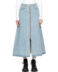 Won Hundred Blue Denim Elna Skirt