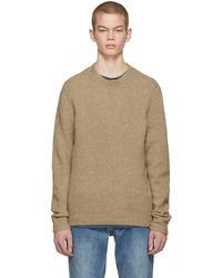 Rag & Bone - Tan Merino Charles Sweater - Lyst