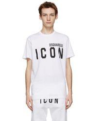 DSquared² ホワイト Icon T シャツ