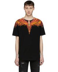 Marcelo Burlon - Black Flame Wing T-shirt - Lyst