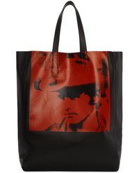 CALVIN KLEIN 205W39NYC - Black And Red Dennis Hopper Tote - Lyst