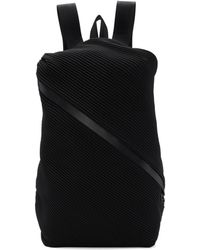 Pleats Please Issey Miyake - Black Single Zip Bias Pleats Backpack - Lyst