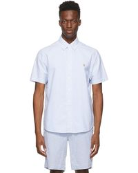 Polo Ralph Lauren - ブルー & ホワイト ロング スリーブ シャツ - Lyst