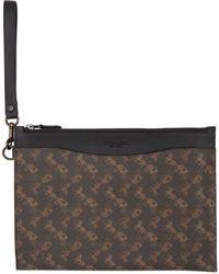 COACH Brown Horse And Carriage Hitch Pouch