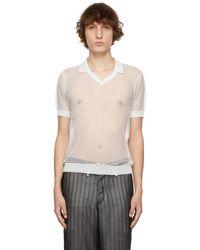Maison Margiela ホワイト ポロシャツ