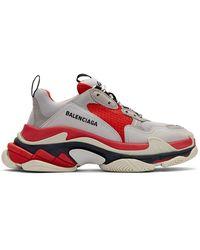 Balenciaga Triple S Sneakers - Red
