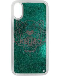 KENZO - グリーン グリッター タイガー ヘッド Iphone X/xs ケース - Lyst