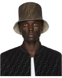 Fendi Reversible Beige Forever Bucket Hat - Natural