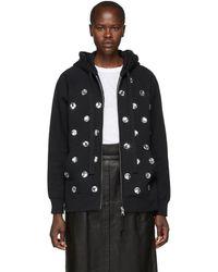 Marc Jacobs - Black Embellished Hoodie - Lyst