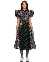 Chopova Lowena マルチカラー Empire Waist ドレス - ブラック