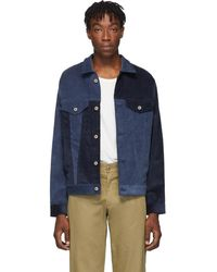 Blue Blue Japan Indigo Yarn Dyed Sweat Jacket in Black for