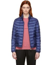 Moncler - Blue Down Lans Jacket - Lyst