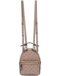 Valentino - Pink Garavani Spike Backpack - Lyst