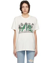 Amiri ホワイト Varsity Palms T シャツ