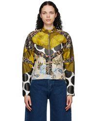 Marques'Almeida Multicolour Patchwork Biker Jacket