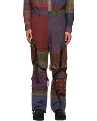Children of the discordance Multicolor Rogic Edition Bandana Patchwork Cargo Pants