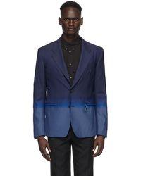 Givenchy - Blazer à simple boutonnage dégradé bleu - Lyst