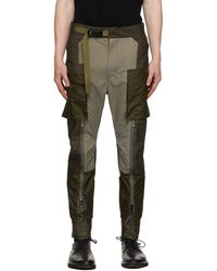 The Viridi-anne & Grey Fragment Tactical Cargo Pants - Brown