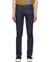 Nudie Jeans - Jean indigo Thin Finn Dry - Lyst