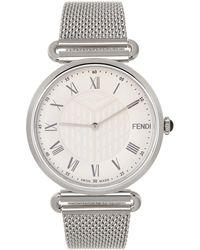 Fendi シルバー & ホワイト Palazzo 腕時計 - メタリック