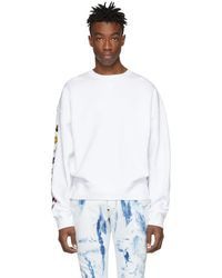DSquared² - White Ball Fit Flocked Sweatshirt - Lyst
