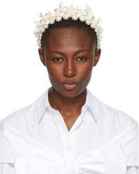 Simone Rocha オフホワイト マザーオブパール Daisy ヘアバンド