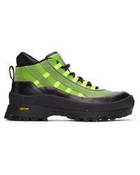 McQ Green Fa-5 Hiking Boots